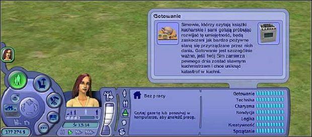 Gotowanie- ta umiejętność pozwala Simom na przygotowanie bardziej sytych posiłków - Umiejętności - The Sims 2 - Pełna Kolekcja - poradniki