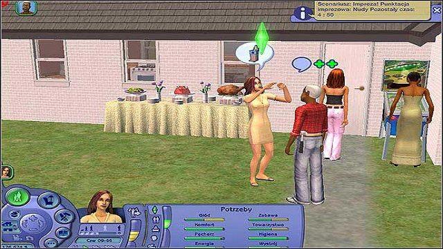 Zawsze na początku gry, kiedy wprowadziliśmy się na nową parcelę, wpada do nas kilku sąsiadów aby się przywitać - Związki - Informacje ogólne; Wskaźniki związków - The Sims 2 - Pełna Kolekcja - poradniki