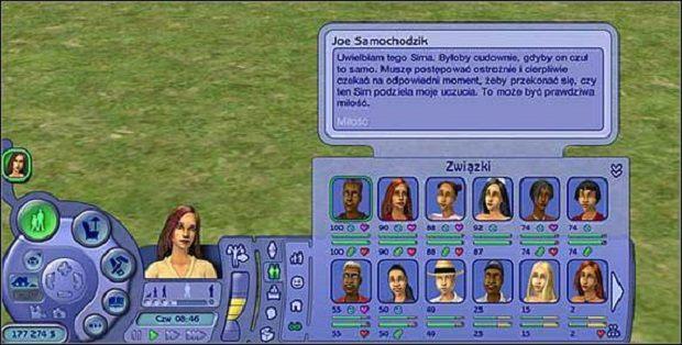 Wyróżniamy 2 wskaźniki związków - Związki - Informacje ogólne; Wskaźniki związków - The Sims 2 - Pełna Kolekcja - poradniki