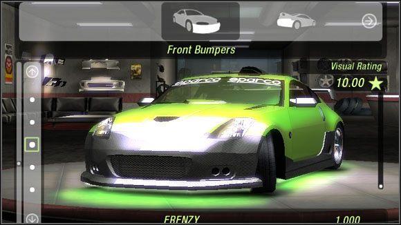 Nazwa - Karoseria - Przednie zderzaki - Sklepy - Need for Speed: Underground 2 - poradnik do gry