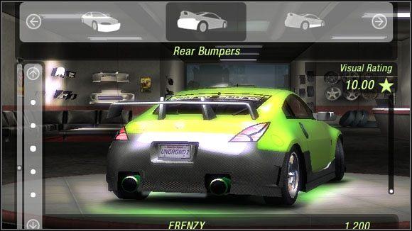 Nazwa - Karoseria - Tylne zderzaki - Sklepy - Need for Speed: Underground 2 - poradnik do gry
