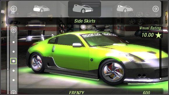 Nazwa - Karoseria - Listwy boczne - Sklepy - Need for Speed: Underground 2 - poradnik do gry
