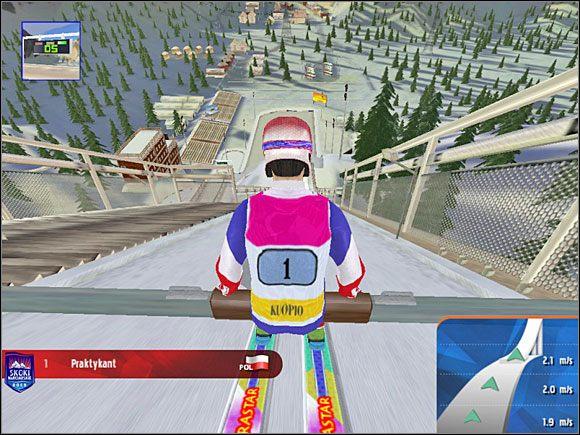 Faza 1: Na początku siedzimy na belce - Skok - sterowanie, porady - Skoki narciarskie 2005 - poradnik do gry