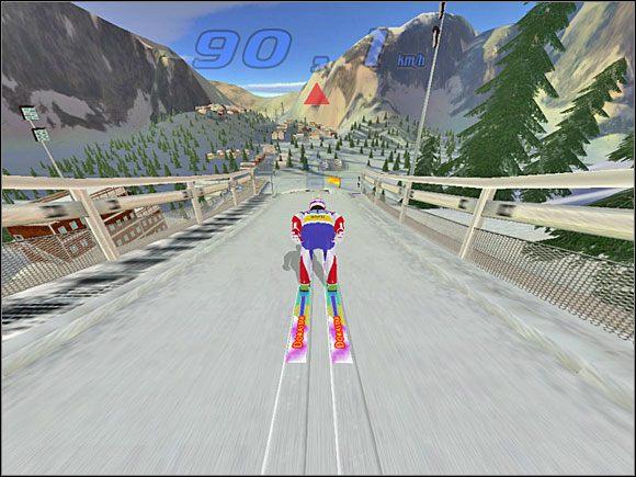 Faza 3: Dojeżdżamy do progu - Skok - sterowanie, porady - Skoki narciarskie 2005 - poradnik do gry