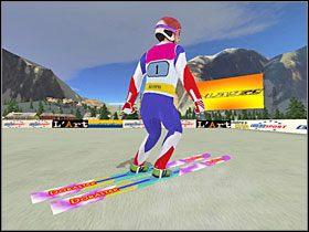 Faza 6: Po lądowaniu należy utrzymać równowagę - Skok - sterowanie, porady - Skoki narciarskie 2005 - poradnik do gry