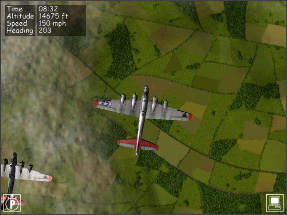 Z tego widoku najłatwiej będzie zorientować się gdzie jesteś. - Nawigacja - Teoria - B-17 Flying Fortress II: The Mighty 8th - poradnik do gry