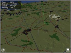 Po znalezieniu charakterystycznych elementów (tory kolejowe i droga biegnące obok siebie) nanosimy poprawki. - Nawigacja - Teoria - B-17 Flying Fortress II: The Mighty 8th - poradnik do gry