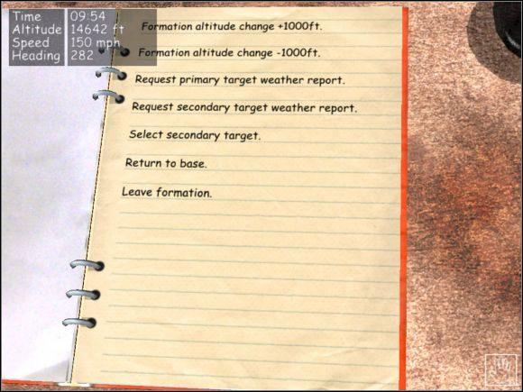Po otrzymaniu informacji o złej pogodzie nad celem lepiej wybrać inny nad którym warunki meteorologiczne są lepsze. - Radiooperator - Teoria - B-17 Flying Fortress II: The Mighty 8th - poradnik do gry