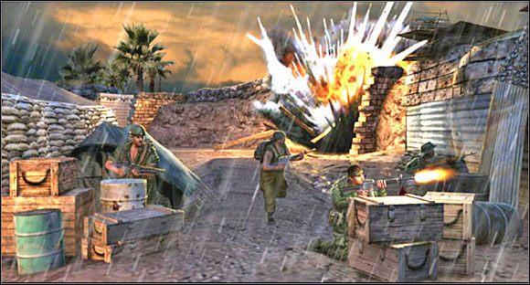 Misja w całości rozgrywa się w bazie, w której zaczynamy na początku gry - Misja 3 Tet Offensive [01] - Conflict: Vietnam - poradnik do gry