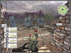 Idąc dalej przemierzamy bazę cały czas co chwila walcząc - Misja 3 Tet Offensive [02] - Conflict: Vietnam - poradnik do gry