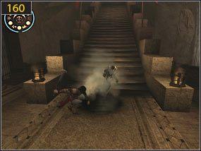 Docieramy do fontanny, gdzie uzupełniamy życie i zapisujemy stan gry [159] - Wejście do fortecy - przeszłość - Mroczna dłoń losu - Prince of Persia: Dusza Wojownika - poradnik do gry