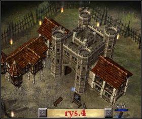 Po zebraniu większej armii (osiem oddziałów powinno w zupełności wystarczyć) atakujemy na wrogi obóz (8) - Misja 4 - The Settlers: Dziedzictwo Królów - poradnik do gry
