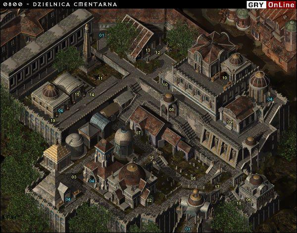 01- Wej�cie do Dzielnicy Cmentarnej - 0800 - Dzielnica Cmentarna - Baldurs Gate II: Cienie Amn - opis lokacji - poradnik do gry
