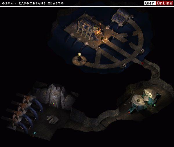 Lokację tą odwiedzamy aby odzyskać Część Różki Szczelinowej którą będziemy mogli pokonać Niewidzące Oko - 0204 - Zapomniane Miasto - Baldurs Gate II: Cienie Amn - opis lokacji - poradnik do gry