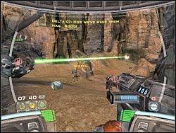 Podczas walki postaraj się jak najszybciej zająć to działo - Territory - Kampania I - Star Wars: Republic Commando - poradnik do gry