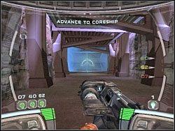 Gdy wejdziesz do środka, zorientujesz się, iż widocznej obok bariery nie jest w stanie przekroczyć - Territory - Kampania I - Star Wars: Republic Commando - poradnik do gry