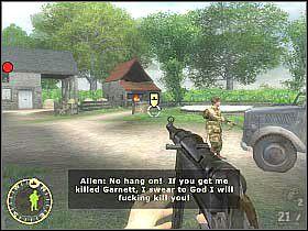 Początkowo korzystaj z karabinu, wrogowie będą bowiem znajdowali się przy barakach - Objective XYZ (4) - Rozdział 5 - Brothers in Arms: Road to Hill 30 - poradnik do gry