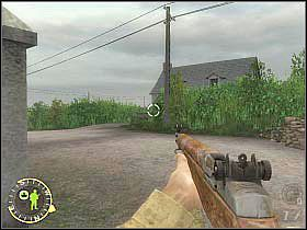 Kieruj się w prawo (powinieneś iść przy wysokich krzakach) - Foucarville Blockade (2) - Rozdział 6 - Brothers in Arms: Road to Hill 30 - poradnik do gry