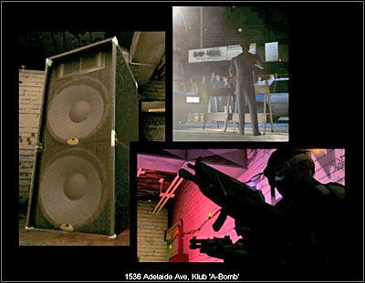 W nocnym klubie A-Bomb ma miejsce strzelanina między dwoma grupami młodych ludzi - latynosów i białych - Klub nocny A-Bomb - Sytuacja - Misja 4 - SWAT 4 - poradnik do gry