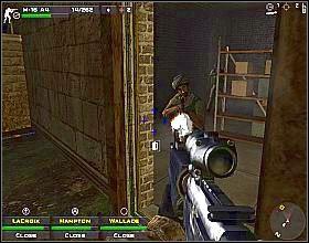 Przejdź do garażu, znajdującego się po drugiej stronie korytarza - Misja 3 - Close Combat: First to Fight - poradnik do gry