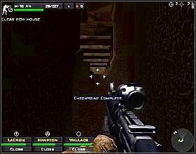 Po zejściu na dół skręć w prawo i idź przed siebie - Misja 5 - Close Combat: First to Fight - poradnik do gry