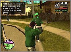 Respekt, jaki czują przed tobą kumple z gangu po twoich ostatnich wyczynach, pozwoli na zwerbowanie ich na akcję - Los Santos - Sweet cd. - Misje - Grand Theft Auto: San Andreas - poradnik do gry