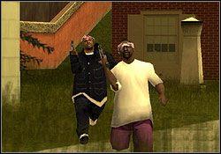 Przesadźcie mur i ustalcie taktykę ataku - Los Santos - Sweet cd. - Misje - Grand Theft Auto: San Andreas - poradnik do gry