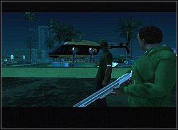 Wybiegnijcie razem na taras, w chwilę później zaatakuje was śmigłowiec policyjny - Los Santos - Sweet cd. - Misje - Grand Theft Auto: San Andreas - poradnik do gry