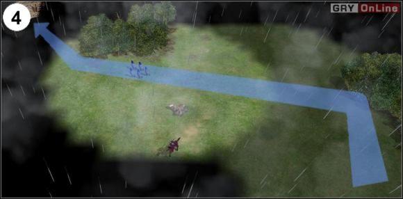 Omiń las z lewej strony, a potem szybko przebiegnij do następnego małego lasku po lewej - [Korea] Misja 6 cz.2 - Empire Earth II - poradnik do gry