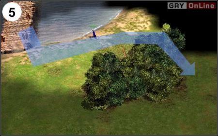 Droga ambasadora różni się jedynie sposobem obejścia lasu obok mostu - północną stroną, nie południową (jak szpiedzy) - [Korea] Misja 6 cz.2 - Empire Earth II - poradnik do gry