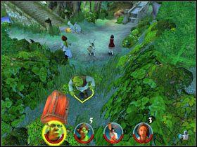 1 - [Solucja] Etap 2 - Straszny Las cz.2 - Shrek 2: Team Action - poradnik do gry