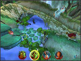 Otwieramy skrzynię parę kroków dalej i zbieramy monety - [Solucja] Etap 2 - Straszny Las cz.2 - Shrek 2: Team Action - poradnik do gry