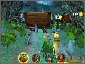 2 - [Solucja] Etap 2 - Straszny Las cz.2 - Shrek 2: Team Action - poradnik do gry