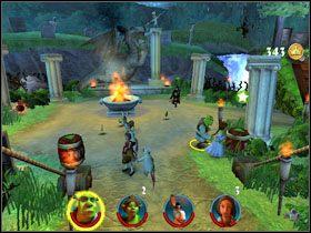 3 - [Solucja] Etap 2 - Straszny Las cz.2 - Shrek 2: Team Action - poradnik do gry