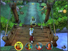 Kolejne grupki wrogów likwidujemy w podobny sposób - [Solucja] Etap 2 - Straszny Las cz.2 - Shrek 2: Team Action - poradnik do gry