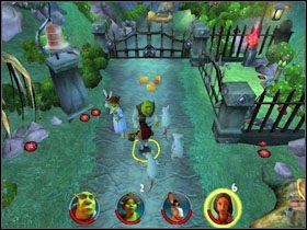 4 - [Solucja] Etap 2 - Straszny Las cz.2 - Shrek 2: Team Action - poradnik do gry