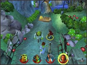 5 - [Solucja] Etap 2 - Straszny Las cz.2 - Shrek 2: Team Action - poradnik do gry