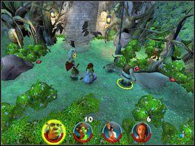 6 - [Solucja] Etap 2 - Straszny Las cz.2 - Shrek 2: Team Action - poradnik do gry