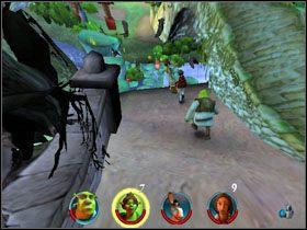 3 - [Solucja] Etap 2 - Straszny Las cz.3 - Shrek 2: Team Action - poradnik do gry
