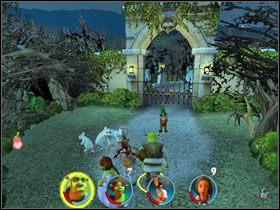 W skrzyni obok znajdujemy następną fasolkę [7/12] - [Solucja] Etap 2 - Straszny Las cz.3 - Shrek 2: Team Action - poradnik do gry