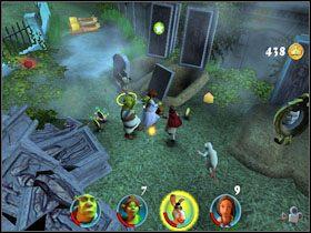 5 - [Solucja] Etap 2 - Straszny Las cz.3 - Shrek 2: Team Action - poradnik do gry