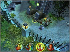 1 - [Solucja] Etap 2 - Straszny Las cz.4 - Shrek 2: Team Action - poradnik do gry