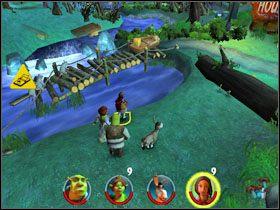 2 - [Solucja] Etap 2 - Straszny Las cz.4 - Shrek 2: Team Action - poradnik do gry