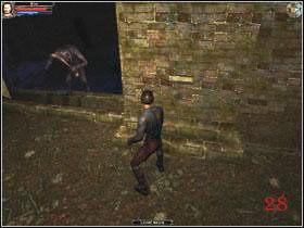 Zeskocz na blok (27) , a znajdziesz się w pomieszczeniu (1) - Mausoleum, poziom 2 - Fargrove - Dungeon Lords - poradnik do gry