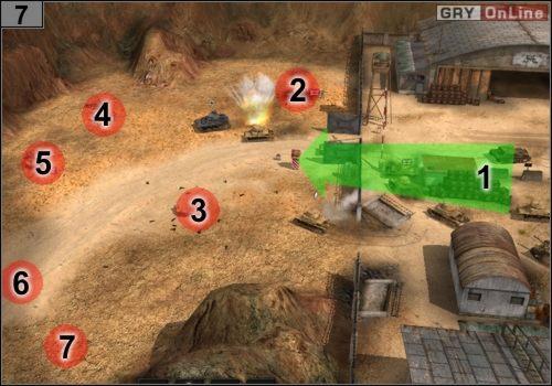 I znów, podążaj za strzałką [1] - Misja 5 - Sidi Rezegh (3) - Państwa Osi - Codename: Panzers - Faza Druga - poradnik do gry