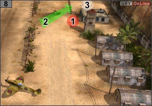 Snajperami zabij strażników w [1], potem jednym czołgiem rozjedź ogrodzenie w [2] - Misja 5 - Sidi Rezegh (3) - Państwa Osi - Codename: Panzers - Faza Druga - poradnik do gry