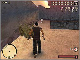Skieruj się do lewej ściany posiadłości (patrząc od strony wjazdu) - [5] Steal the wheels cz.1 - Total Overdose: A Gunslingers Tale in Mexico - poradnik do gry