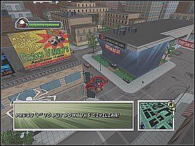 W niektórych miejscach możesz być świadkiem wojen gangów (screen 1) - [Opis przejścia] Misja 2 - Miasto - Ultimate Spider-Man - poradnik do gry