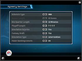Na początku wybieramy drużynę, którą będziemy rozgrywać karierę (obrazek po lewej) - Dynasty Mode - Game Modes - NBA Live 06 - poradnik do gry