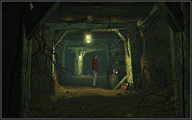Skręciłem w lewy korytarz i szedłem nim, aż dotarłem do zawaliska - KOPALNIA (1) - ZACHODNIE CZECHY - Nibiru: Wysłannik Bogów - poradnik do gry